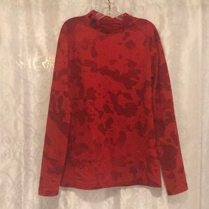 Under Armour Red Long Sleeved Shirt Size YMD!